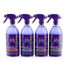 Joy Miracle Clean 2 28 OZ Fast & Powerful Disinfect & Clean Set Vanilla
