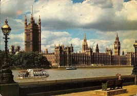 PICTURE POSTCARD-THE HOUSES OF PARLIAMENT & BIG BEN SEEN FROM THE THAMES... - $1.96