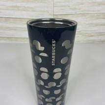 Starbucks Silver Polka Tumbler 24oz  2018 Stainless Steel - $17.59
