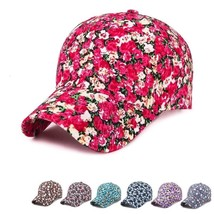 Floral Baseball Cap Women Adjustable Summer Girl Fashion Small Sun Hat O... - $9.15