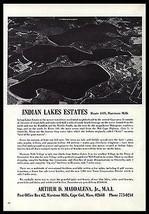 Indian Lakes Aerial Photo Rt 149 Marston Mills Massachusetts 1968 Ad - $9.99