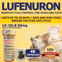 90MG FLEA CONTROL For DOGS 10-20 Pounds 48 TREATMENTS EACH LASTS A MONTH - €21,30 EUR