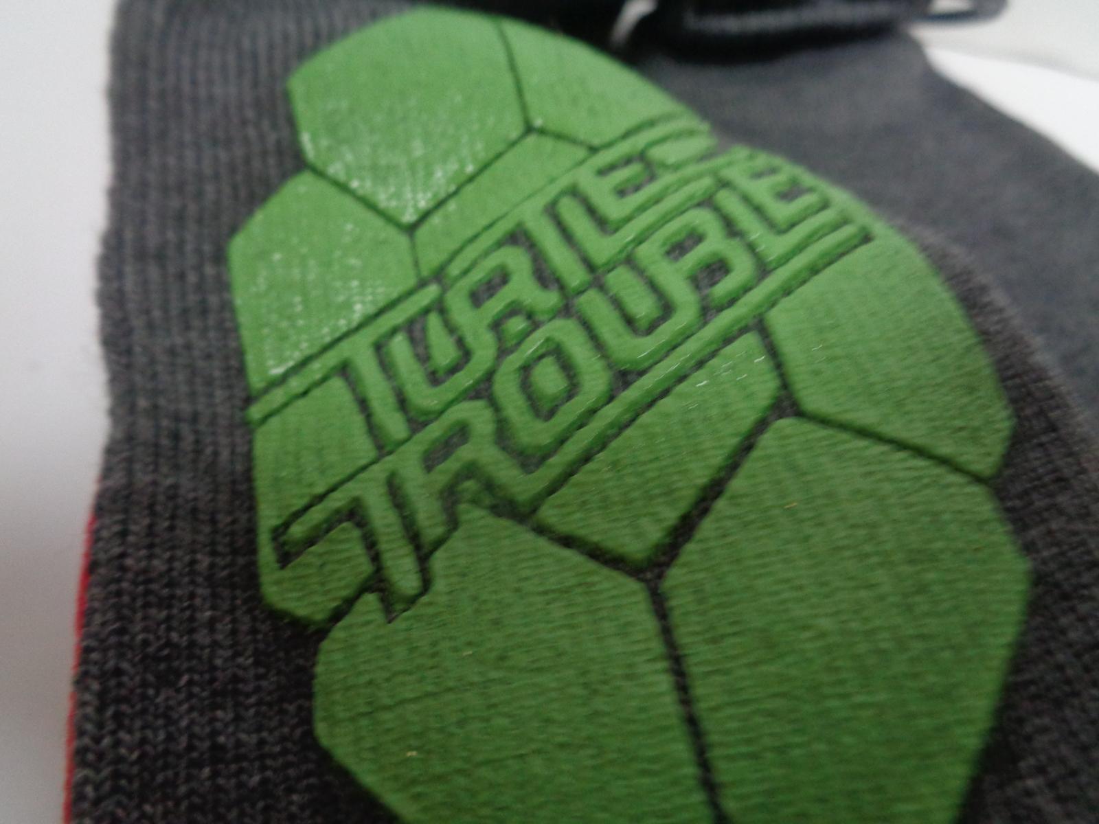 Ninja Turtle Slipper Socks NWT Size S/M 7-8 Nickelodeon Free Shipping