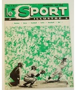 1952 Le Sport Play Ball Montreal Canada Magazine in French - $7.90