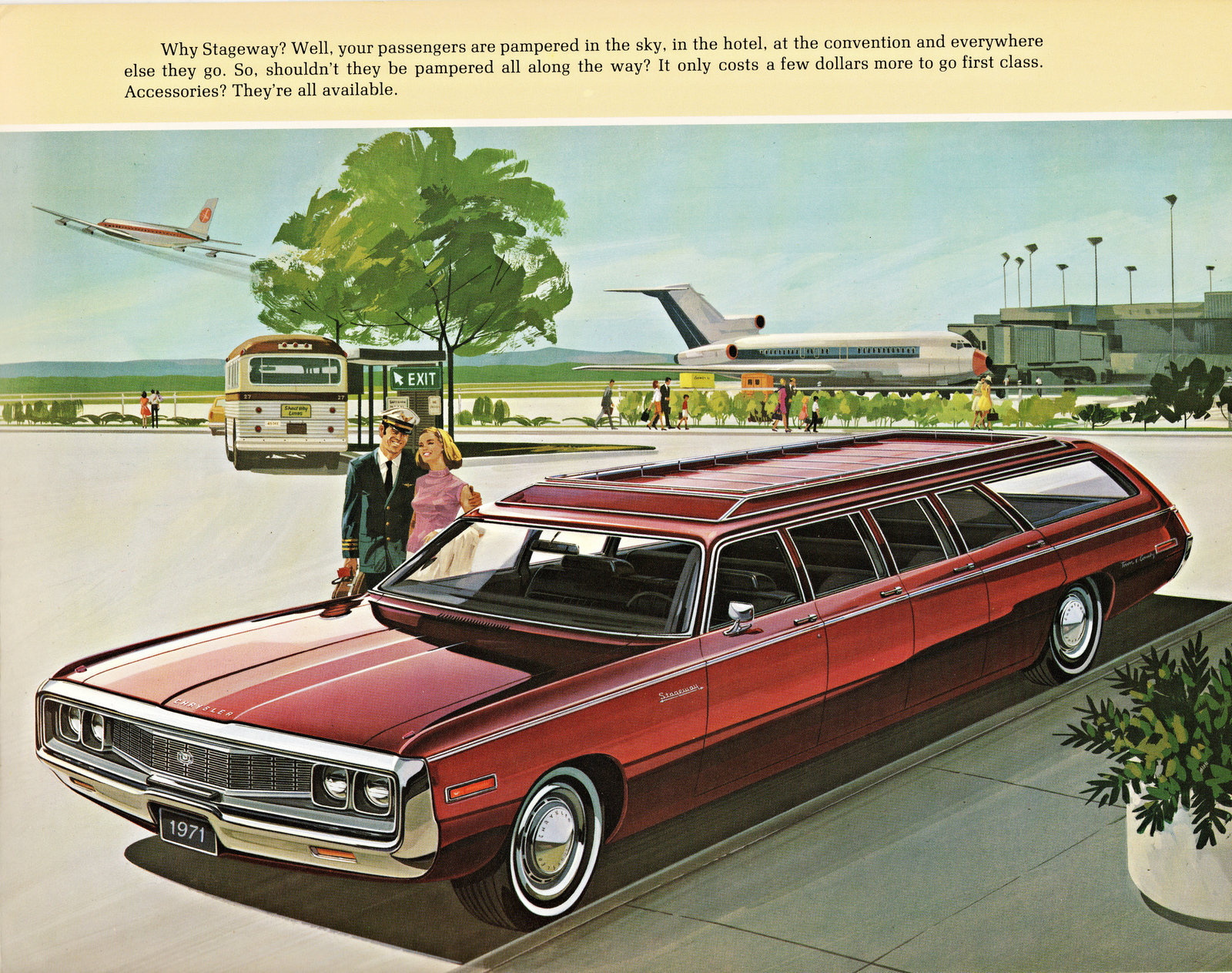 Primary image for 1971 Chrysler Stageway station wagon | 24 X 36 inch poster