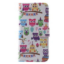 Leather Flip Cover for Samsung Galaxy S7 Edge G935 - Multiple Lovely Owls - $3.99