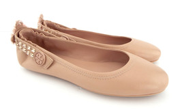 New TORY BURCH Size 8.5 Nude MINNIE Two Way Embellished Ballet Flats Sho... - $184.00