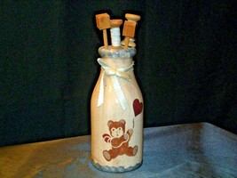 Hand Painted Vase with Kitchen Utilizes Decor  AB 54a Vintage