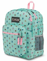 New TRANS by JANSPORT Blue Munchies Print Supermax Multi Pocket Backpack