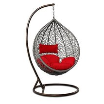 Island Gale Outdoor Brown Wicker Rattan Hanging Swing Egg Chair Hammock ... - $569.00