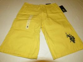 U.s. Polo Assn. Boy's Youth shorts yellow s7in69yov 14 casual school NWT# - $20.30