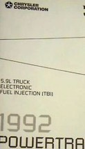1992 92 DODGE PICK UP TRUCK 5.9L 5.9 L Powertrain Diagnostic Procedure Manual - $6.44