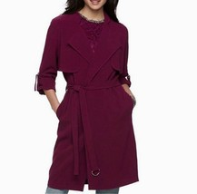 New Jennifer Lopez Ladies Belted Drapery Trench Coats Grape Variety Sizes - $69.99