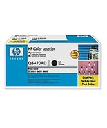 HP Q6470AD 501A Laser Toner Cartridge for LaserJet Q6470A - 6000 Page Yi... - $269.03