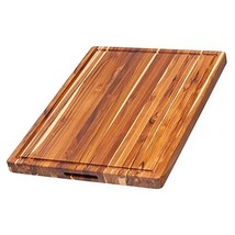 Teak Cutting Board - Rectangle Board With Hand Grip And Juice Canal 20 x... - $95.58