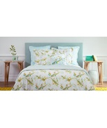 Yves Delorme Lucine Super King Flat Sheet Floral Guipure Lace Egyptian C... - $199.00