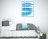 Watercolor Printable Art, Abstract Wall Art, Printable Art, blue building Print - $1.25
