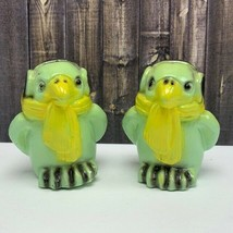 Salt Pepper shakers art deco figurals vintage vtg mcm green penguin parr... - $34.60