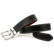 Tommy Hilfiger Men's Reversible Contrast Stitching Leather Belt 11TL08X009 image 2