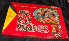 Vtg 1967 NIK-NAK Numbers Board Game Complete Cadaco #265 - $15.43