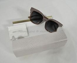 NWT Jimmy Choo Mayela 18U VH Textured Square Glitter Frame Sunglasses $395 Italy - $299.00