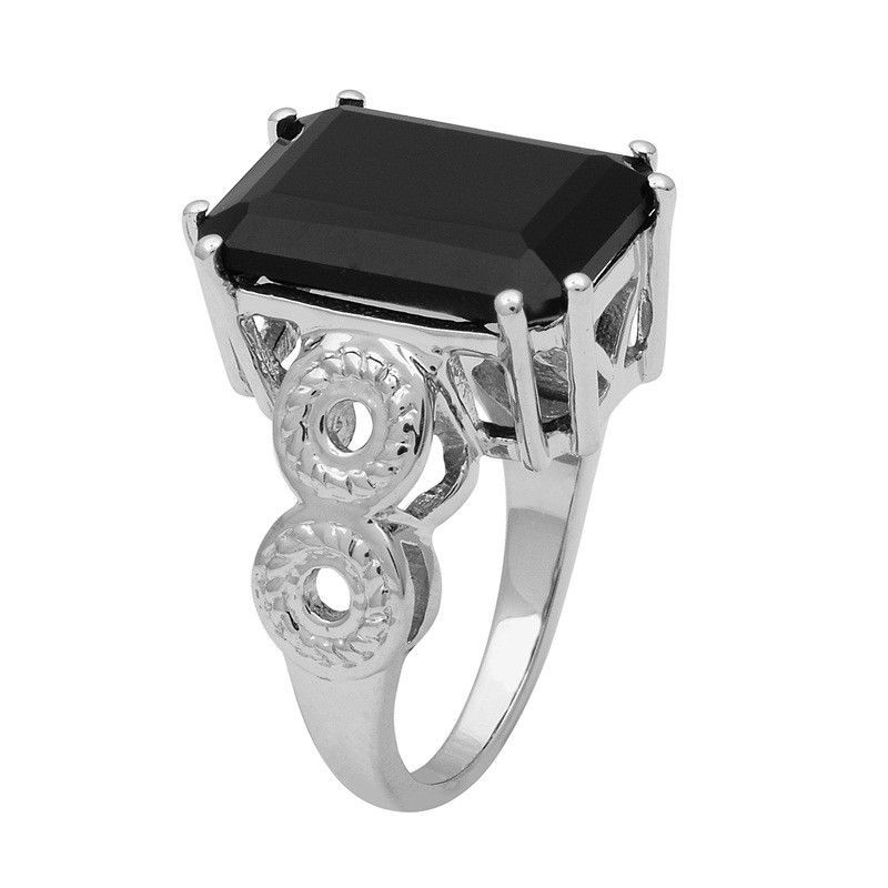 Amazing !! Black Spinel 925 Sterling Silver Ring Shine Jewelry Size-7.5 SHRI1442