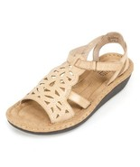 CLIFFS BY WHITE MOUNTAIN Women's Chambray Wedge Sandal, Stone, 9 M US - $27.19