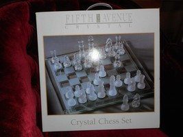 Fifth Ave. Chess Set, Crystal Players, New in Box - $15.79