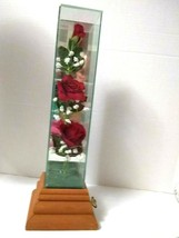 "Vintage California Terrariums Red Roses  Music Box 13"" - $12.97"