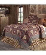 Millsboro King Quilt Shams Pillow Cases handquilted log cabin pattern 1... - $22.00+