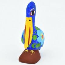Handmade Alebrijes Oaxacan Copal Wood Carving Painted Folk Art Pelican Bird image 2