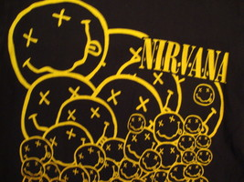 Nirvana punk rock grunge concert tour Band Souvenir Black Soft T Shirt S - $15.72