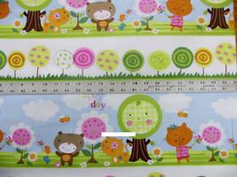 Lollipop baby animals happy day quilt top 100% ... - $5.72