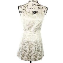 Forever 21 juniors Small mini dress white gold tapestry criss cross stra... - $16.39