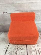 American Girl Doll  - Orange Futon or Folding Chair for Moon & Stars bedroom set - $19.79