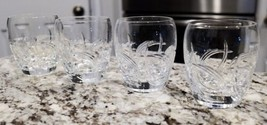 "4 Lenox ""Windward"" Pattern Old Fashioned Crystal Glasses - $64.35"