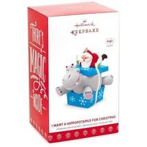 I Want A Hippopotamus For Christmas Santa 2017 Hallmark Magic Ornament  ... - $39.59