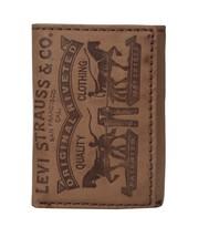 Levi's Men's Premium Leather Credit Card Id Wallet Trifold Brown 31LP1126 image 1