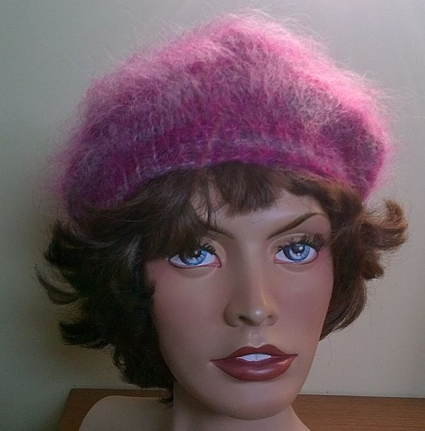 02c08478e81 Hairy Luxury Mohair sweater Beret Tam Cap and similar items