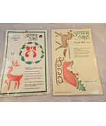 Stencil Ease Holiday Collection Reindeer Berry Wreath & Sleigh Ride - $6.45