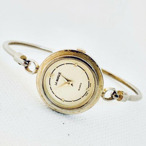 Vintage La Marque Gold Tone Bangle Bracelet Women's 24mm Watch