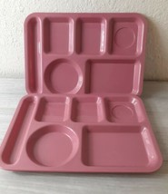 2 VTG SiLite Divided Stack Trays #614 Pink Chicago, ILL USA - $8.91