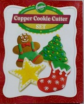 Wilton Christmas Copper Cookie Cutter 4pc Set Gingerbread Star Stocking ... - $32.81 CAD