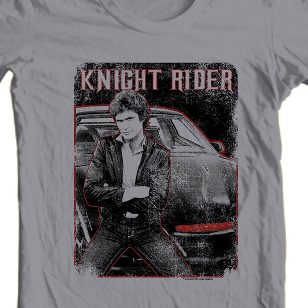 Knight Rider  KITT Graphic Tee David Hasselhoff retro 1980s TV t-shirt NBC669
