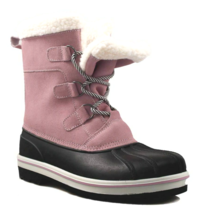 Cat & Jack Girls' Rolane Pink Leather Water Resistant Thermolite Winter Boots image 4