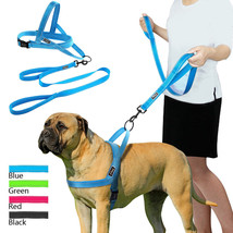 No pull reflective dog harness leash set vest lead training fit for pet - $23.74+