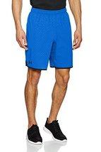 Under Armour Men's Qualifier Printed Shorts, Blue Marker/Black, X-Large