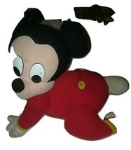 Disney Touch-n-Crawl Baby Mickey Mouse Mattel 1995 Plush Toy  - ₹2,491.15 INR