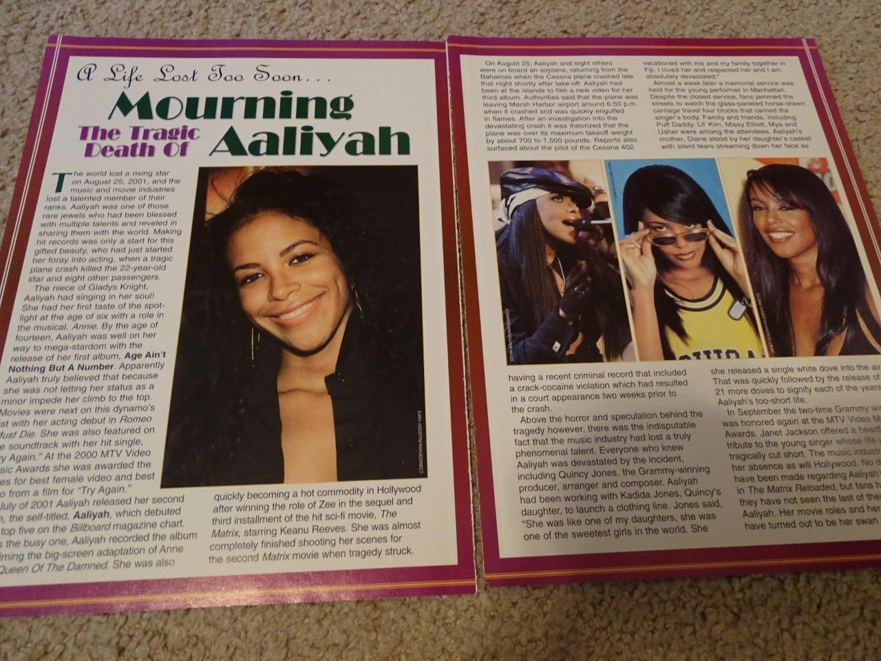 Aaliyah teen magazine pinup clipping Popstar Tiger Beat Bop Teen Beat