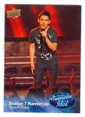 Primary image for David Archuleta trading card (Singer) 2009 Upper Deck American Idol #008